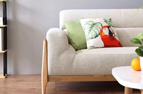 客厅布艺沙发小户型木