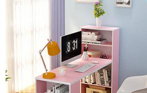 写字台书桌带书架组合