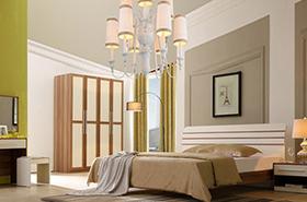 简约现代实木床衣柜床头柜卧室家具
