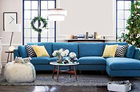 包拆洗布艺沙发组合家具A33