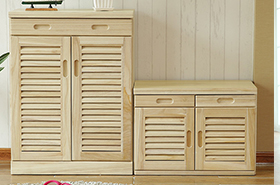 四门大容量简约现代木质玄关收纳鞋柜